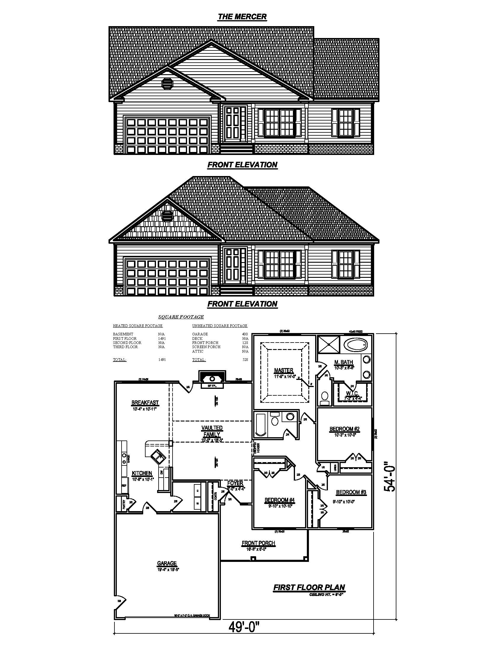 Carolina plantations floorplans standard features and for Search floor plans by features